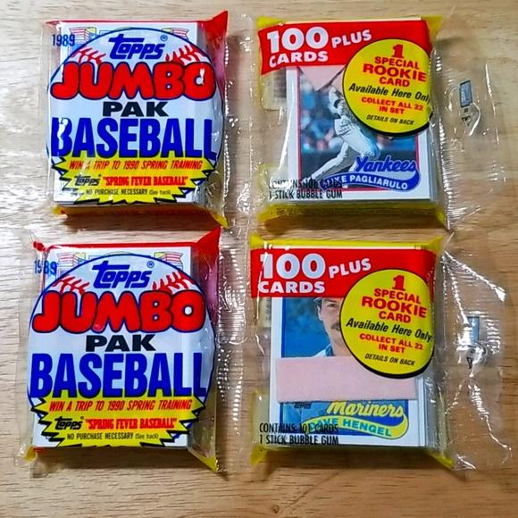 2 - 1989 Topps rack packs ( 100 cards EACH )